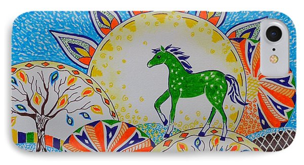 Horse Design Drawing No.3 IPhone Case