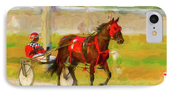 Horse, Harness And Jockey IPhone Case