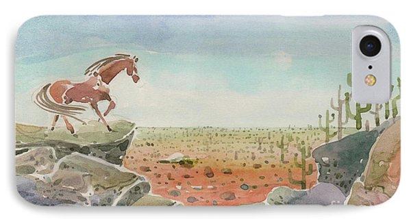 Horse In A Desert IPhone Case