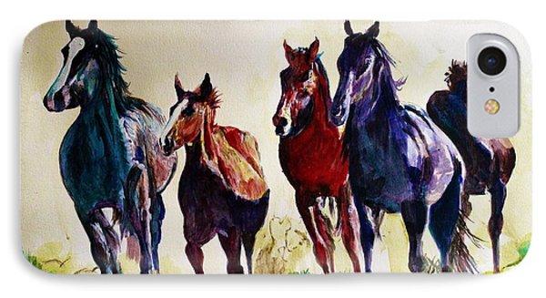 Horses In Wild IPhone Case