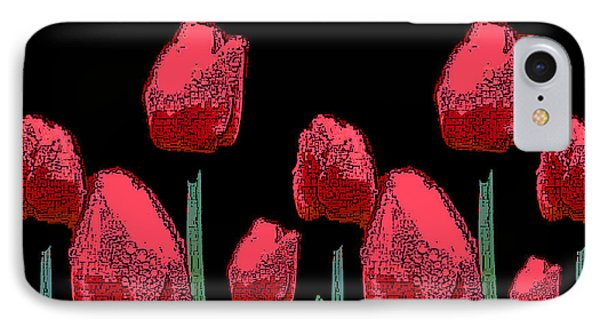 Hot Red Tulips IPhone Case