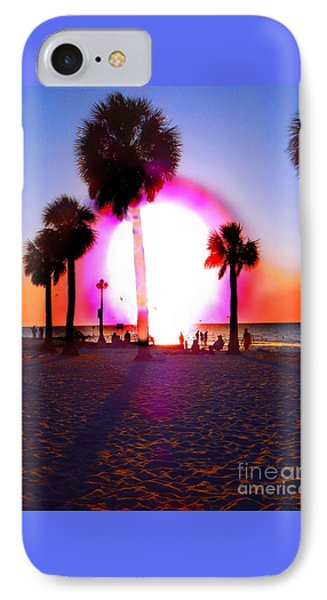 Huge Sun Pine Island Sunset  IPhone Case