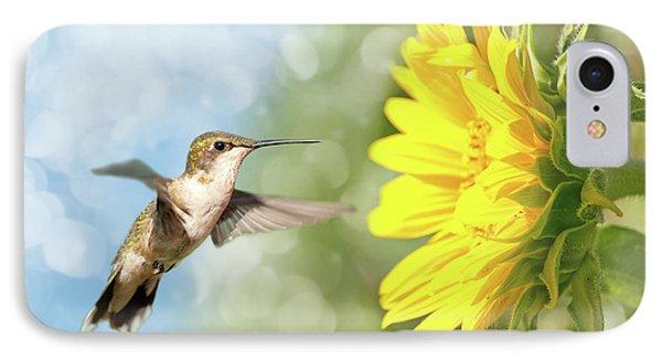 Hummingbird And Sunflower IPhone Case