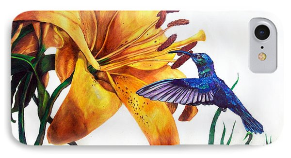 Hummingbird And Yellow Flower IPhone Case