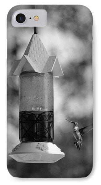 Hummingbird - Bw IPhone Case