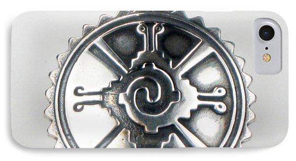 Hunab Ku Mayan Sterling Silver Pendant IPhone Case