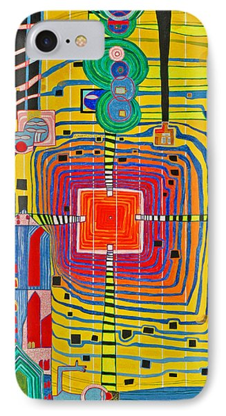 Hundertwassers Close Up Of Infinity Tagores Sun IPhone Case