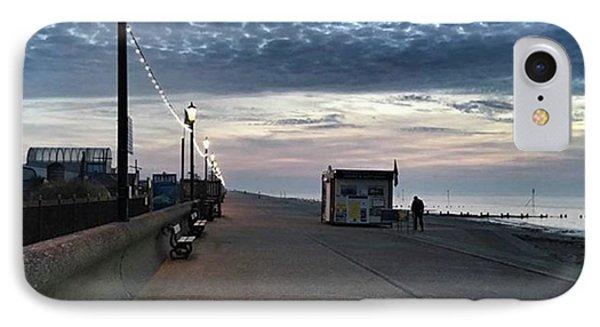Hunstanton At 5pm Today  #sea #beach IPhone Case