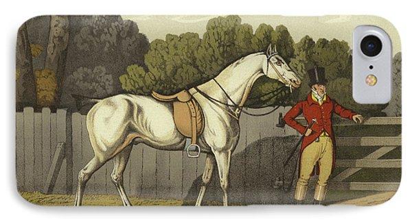 Horse iPhone 8 Case - Hunter by Henry Thomas Alken