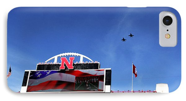 Husker Memorial Stadium Air Force Fly Over IPhone Case