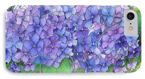 Hydrangea Purple Blue IPhone Case