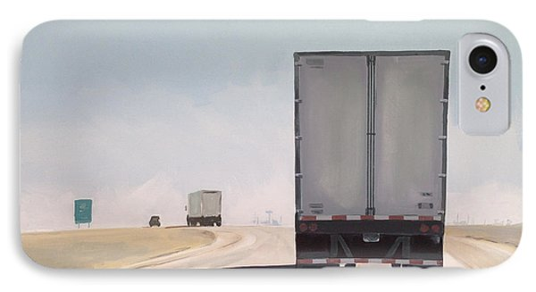 Truck iPhone 8 Case - I-55 North 9am by Jeffrey Bess