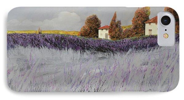 Rural Scenes iPhone 8 Case - I Campi Di Lavanda by Guido Borelli