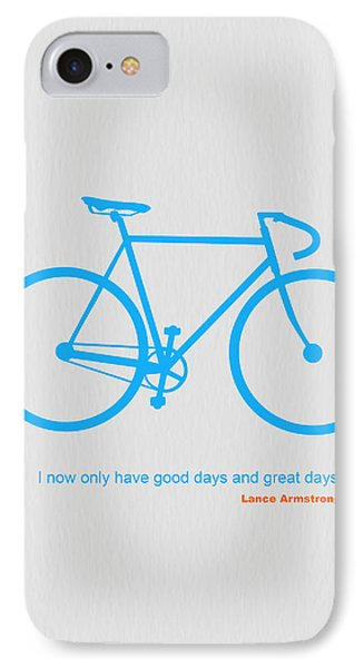 Bicycle iPhone 8 Case - I Have Only Good Days And Great Days by Naxart Studio