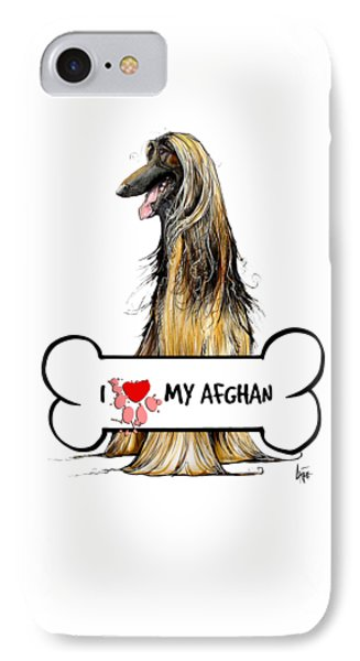 I Love My Afghan Hound IPhone Case