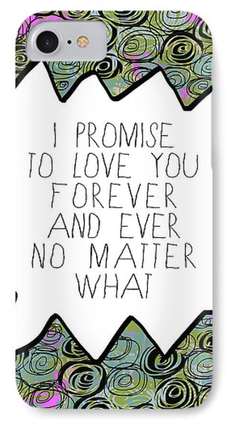 IPhone Case featuring the painting I Promise by Lisa Weedn