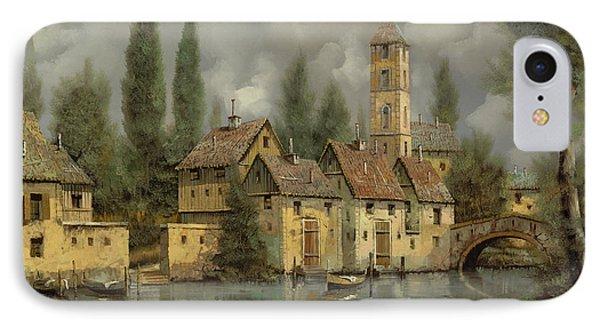 Landscape iPhone 8 Case - Il Borgo Sul Fiume by Guido Borelli