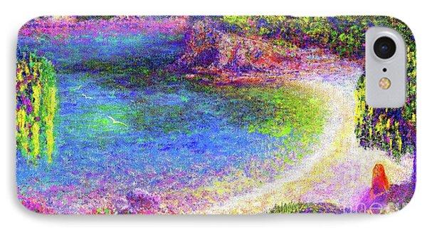 Imagine, Meditating In Beautiful Bay,seascape IPhone Case
