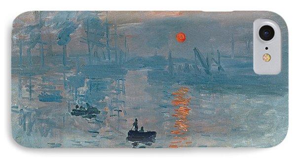 Boat iPhone 8 Case - Impression Sunrise by Claude Monet