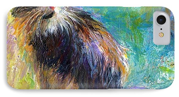 Impressionistic Tuxedo Cat Painting By IPhone Case