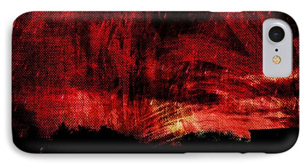In A Red World IPhone Case