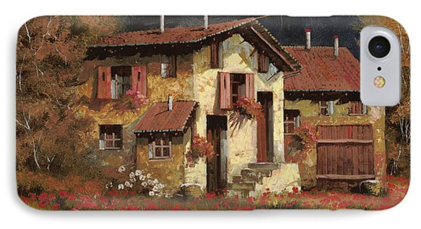 Rural Scenes iPhone 8 Case - In Campagna La Sera by Guido Borelli