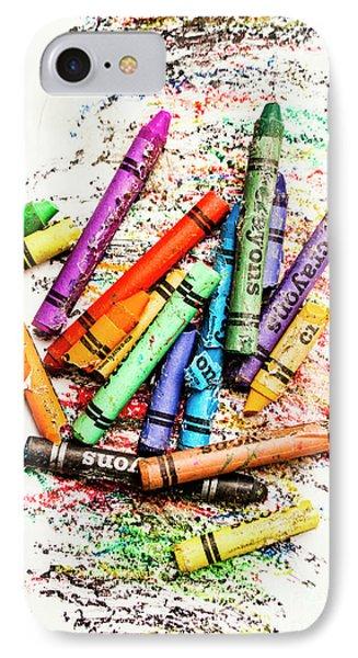 In Colours Of Broken Crayons IPhone Case