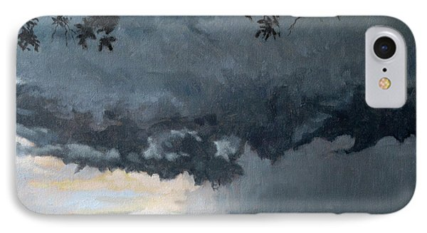 In Coming Storm-epping Forest On The Lake IPhone Case