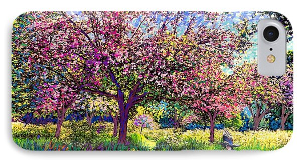 England iPhone 8 Case - In Love With Spring, Blossom Trees by Jane Small