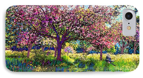 Daisy iPhone 8 Case - In Love With Spring, Blossom Trees by Jane Small