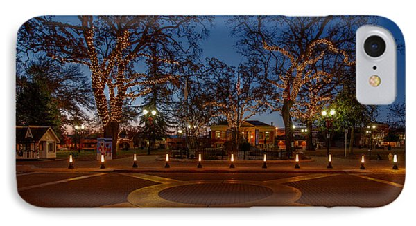 In The Center Of Town At The Crack Of Dawn IPhone Case