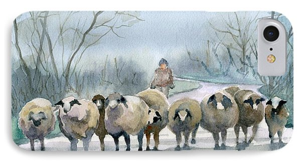 Sheep iPhone 8 Case - In The Morning Mist by Marsha Elliott