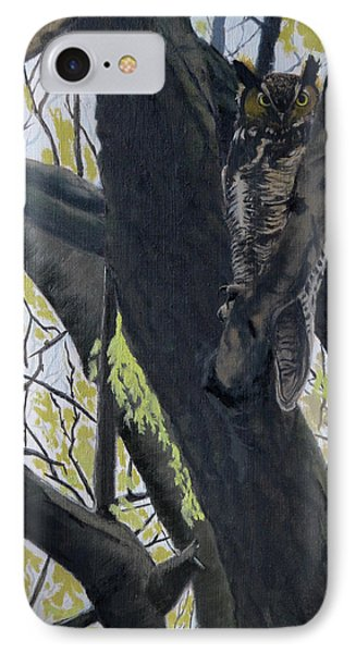 In The Shadow-ojibway Great Horn Owl IPhone Case