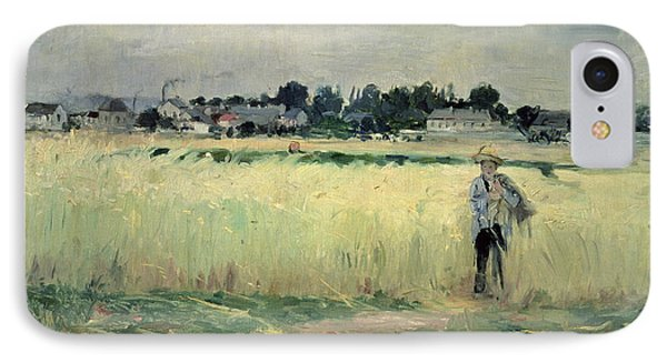 In The Wheatfield At Gennevilliers IPhone Case