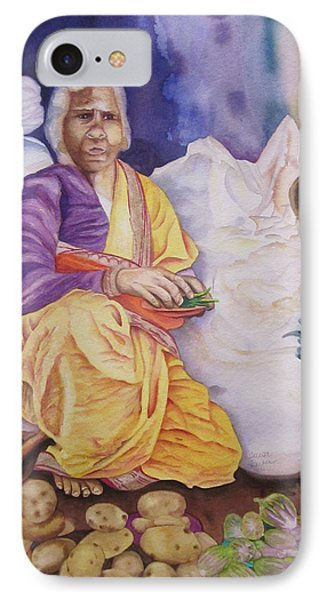 Indian Woman At Market IIi IPhone Case