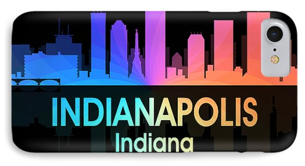 Indianapolis In 5 Squared IPhone Case