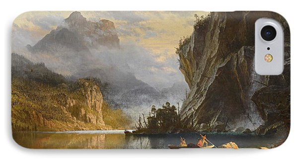 Indians Spear Fishing, 1862 IPhone Case