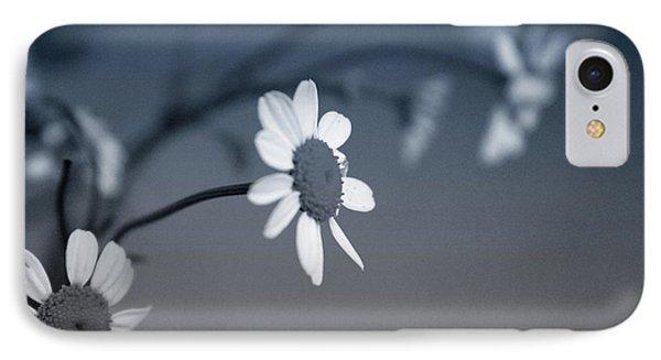Daisy iPhone 8 Case - Indigo Daisies 1- Art By Linda Woods by Linda Woods