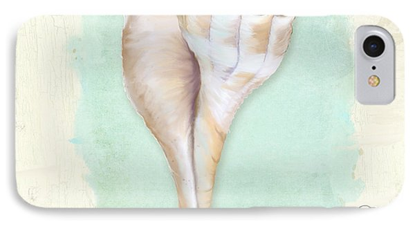 Inspired Coast Vii - Lightning Whelk Shell On Board IPhone Case