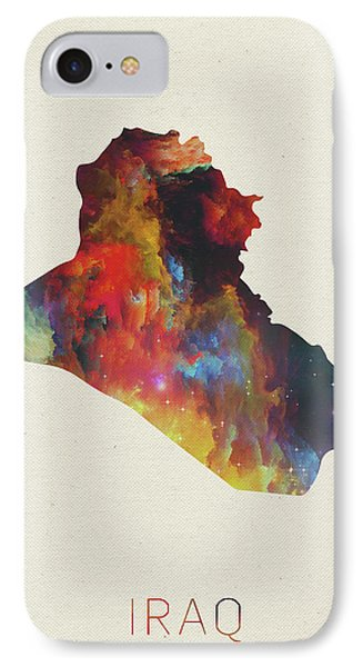 Iraq Watercolor Map IPhone Case