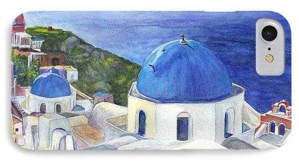 Isle Of Santorini Thiara  In Greece IPhone Case