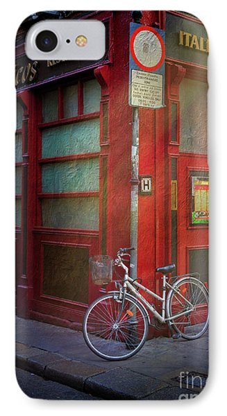 IPhone Case featuring the photograph Italian Restaurant Bicycle by Craig J Satterlee