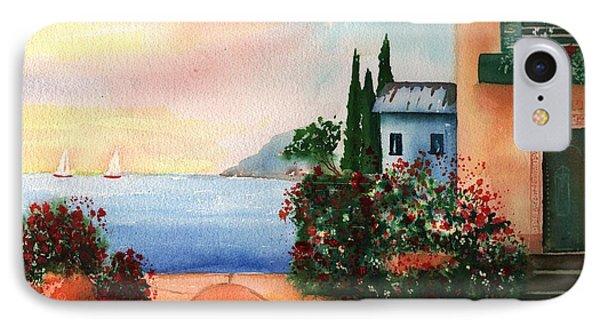 Italian Sunset Villa By The Sea IPhone Case