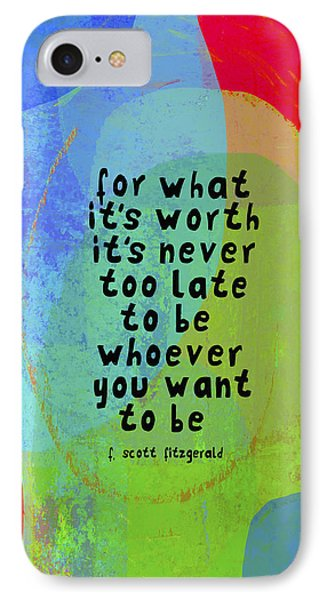 IPhone Case featuring the mixed media It's Never Too Late by Lisa Weedn