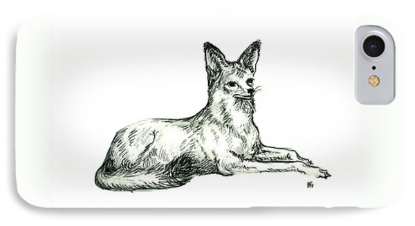 Jackal Sketch IPhone Case