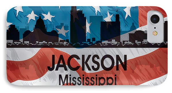 Jackson Ms American Flag Squared IPhone Case