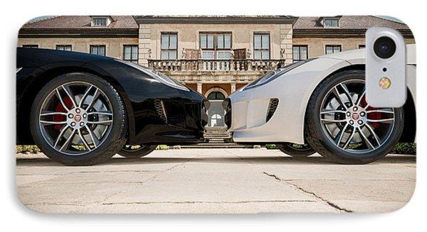 Jaguar F-type - Black And White IPhone Case