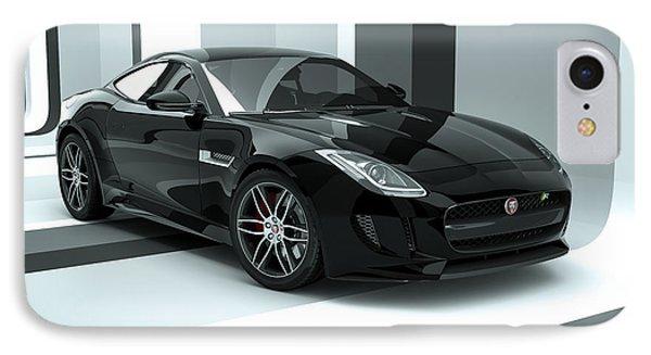 Jaguar F-type - Black Retro IPhone Case