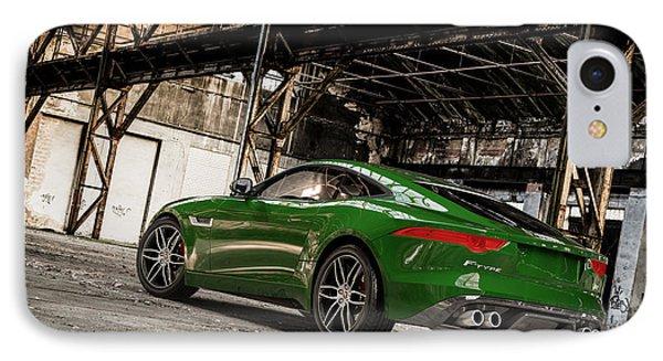 Jaguar F-type - British Racing Green - Rear View IPhone Case