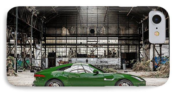 Jaguar F-type - British Racing Green - Side View IPhone Case